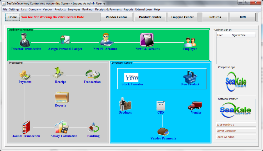 Inventory & Accounting System Software