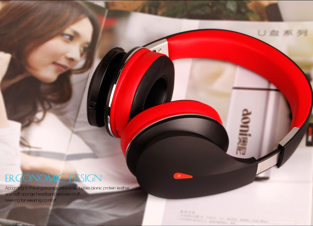 New stereo wireless headset bluetooth V4.0 over-ear headphone with mic