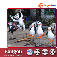 fiberglass material film character cartoon penguins character statues