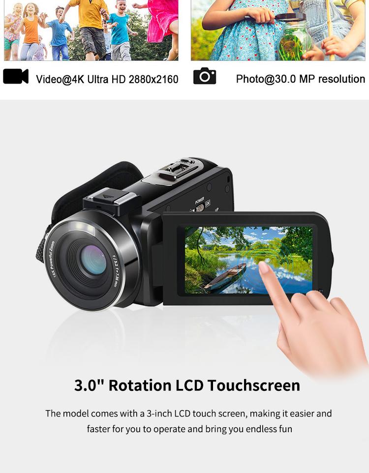 2019 New professional camera 4K digital video camera 1920x1080