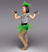 sassy lime green and zebra 4-piece costume-girl puffy adult costumes-ballet dress pattern