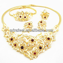 2014 blossoms in spring African 4 pieces jewelry sets custom jewelry set 18k alloy big jewelry color guaranteed