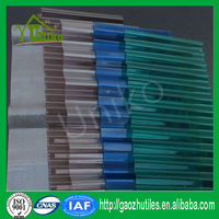 High temperature resistant corrugated plastic roofing sheets used commercial greenhouses