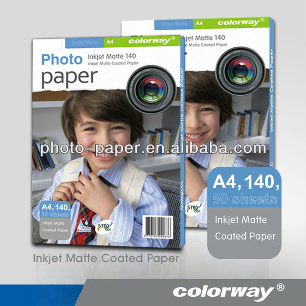 MC135 128gsm Matte Coated Inkjet Photographic Paper large/wide format roll paper