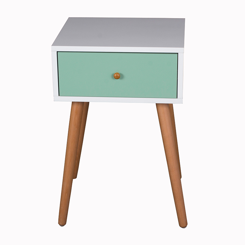 Scandinavian furniture living room storage bedside wood cabinet
