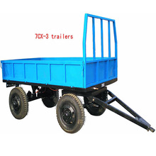 2T 3T 5T 2 wheels trailer and 4 wheels farm trailer tractor Tipping trailer for sale