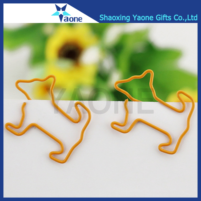 2017 promotional gifts decorative animal custom dog shaped paper clips