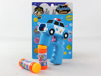 Solid color Electric lovely cartoon car LED bubble gun with music and 2 bottles water