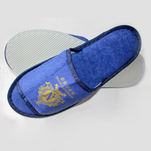 Hotel slipper blue towel slippers open toe fancy eva slippers