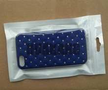 Front clear mobile phone packaging sachet with eurohole