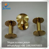 China supplier sales brass Book Binding Screw, brass chicago screws,brass Photo Book Screw with logo