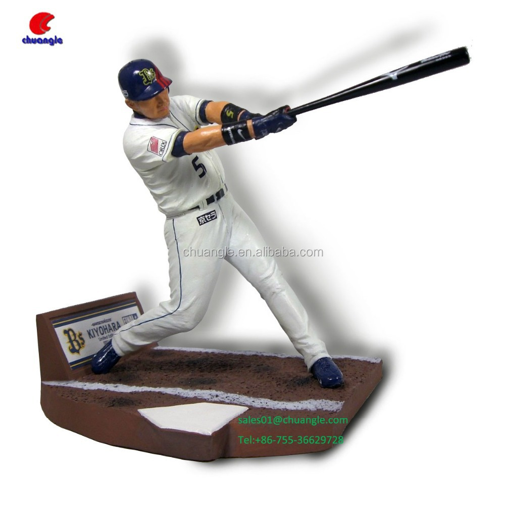 Customized Baseball Player Figure Crafts OEM Sports Player Souvenirs
