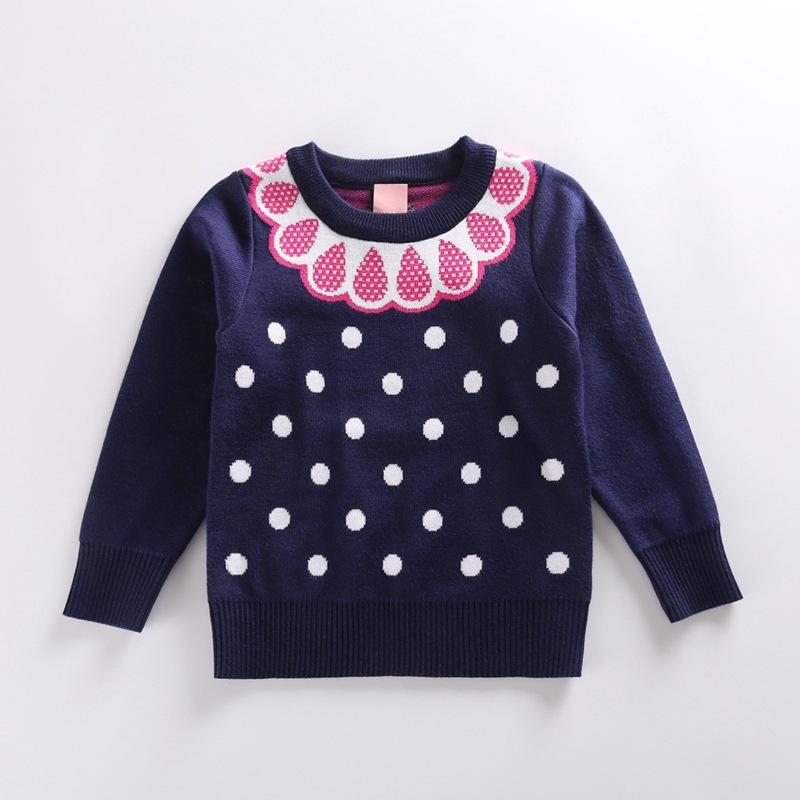 Wholesale Cotton Fabric Design Girl Wool Handmade Knit Crochet Sweater For Baby