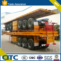 CITC genarally type 3 axles 50 ton container dolly trailer with hydraulic lift for container 20ft container lift