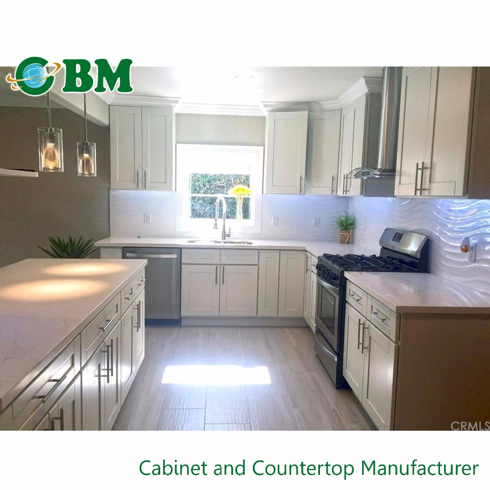 White shaker solid wood kitchen cabinets buy kitchen for White solid wood kitchen cabinets