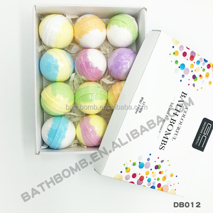Custom Private Label natural gift set fizzy wholesale bath bombs