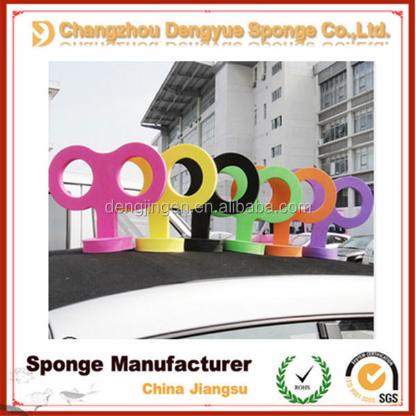 Eco-friendly car tail decoration electronic car body/tail stickers cute clockwork foam