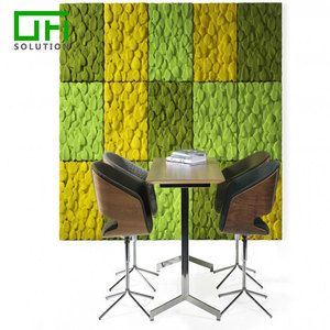 3D Cubic Heat-Press Texture Polyester Acoustic Panels Soundproofing PET Board