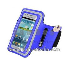 For Samsung Galaxy Note 2 Note 3 Armband Case Reflective Arm Band Case Cover