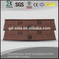Cheap and durable shingle stone coated metal roofing tile
