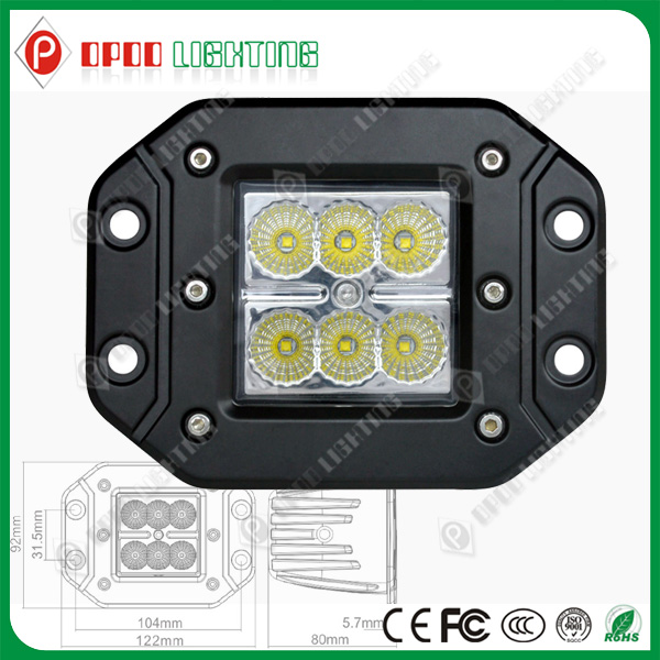 Hot Sale 10-30V 6000K 1620Lumen CE RoHS IP67 3 Inch CREE 18W LED Mechanics Work Lamp