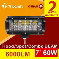 2PCS/LOT! 60W 4D LED LIGHT BAR 6000LM FOR OFFROAD ATV UTE 12V 24V 4x4 4WD BOAT SUV TRUCK TRAILER MILITARY TRACTOR