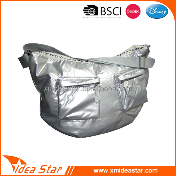 shoulder bag with shining coating PS006