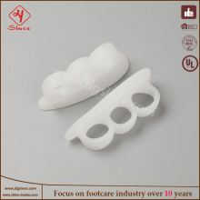 china supplier gel toe cap and toe spreader relief rubbing toes corns comfortable