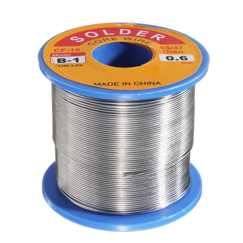63/37 0.6mm 300g FLUX 2.0% Tin Lead Rosin Core Solder Flux Soldering Welding Iron Wire Reel 55 x 50 mm NEW Arrival
