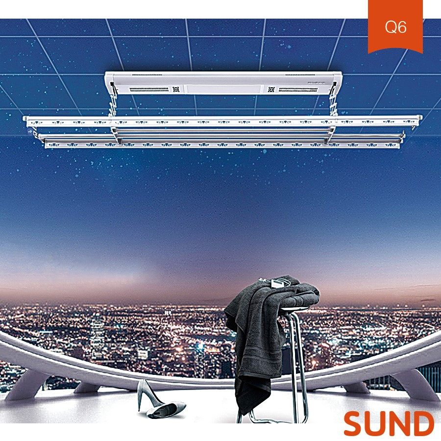 Remote Control Aluminium Electric Ceiling Mounted Clothes Drying Rack