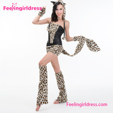 Leopard Zoo Cosplay Women Adult Hot Furry Animal Costume