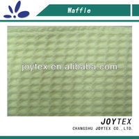 65% polyester 35% cotton waffle knit fabric for curtains