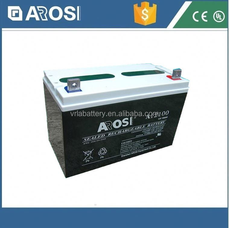 Arosi best price 12v 100ah solar battery lead acid battery container