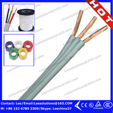 2016 High standard 3 core PVC wire twin & earth cable flat wire bs 6242y
