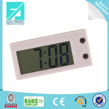 Fupu glass digital brief photo frame clock custom diy table clock