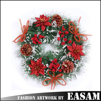 Christmas artificial cane decoration christmas wreaths cheap