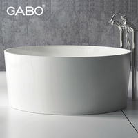 Big round double bath tub Indoor Whirlpool bathtub
