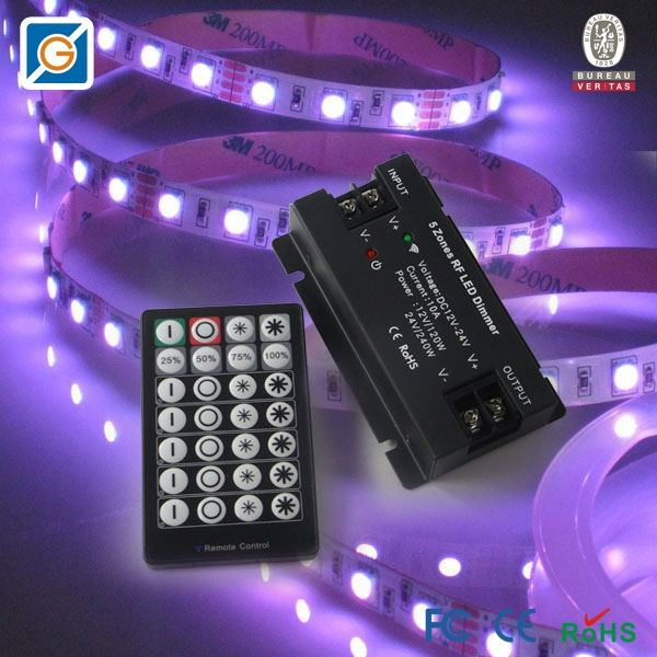 5 Channels dali dimmer with touch function