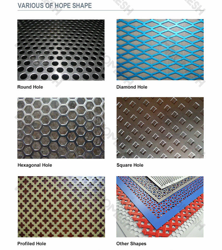 Made in Guangzhou Professional Factory English letters logo punching board Decorative Metal Perforated Mesh
