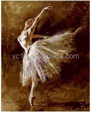 ballet girl DIY painting by numbers