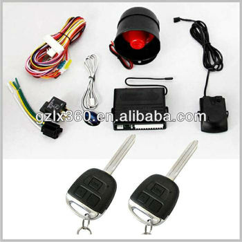 2013 car alarm installation/auto security system with key