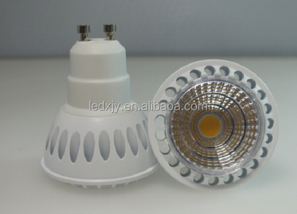 6W 600lm Ra80 Halogen Lamp Lens COB LED Spotlight MR16 GU5.3 GU10