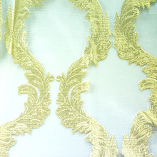 2014 luxury and noble jacquard curtain for hotel and restaurant professional made window sheer