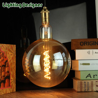 G200 oversized globe Edison bulb vintage lamp LED light source 110-220V 6W soft led filament dimmable decorative bulb