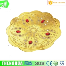 gold plastic plate christmas fruit tray custom decorative plates