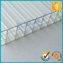excellent weather ability 12 mm thick transparent multiwall hollow pc sheet for sun house
