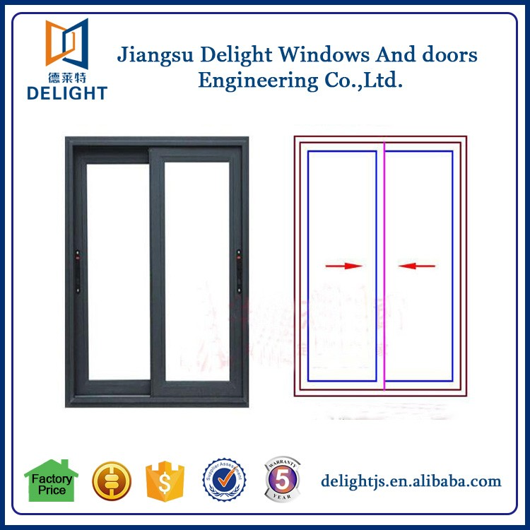 Sliding horizontal aluminum window trim with cheap price
