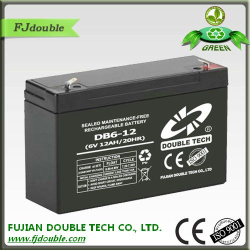 6v 12ah 12v sla vrla battery of energy storage battery pack for electric bicycle