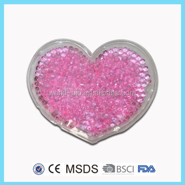 Romantic heart shape beads for heating pad