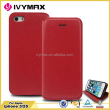 wallet pu leather phone case for apple iphone 5 5s